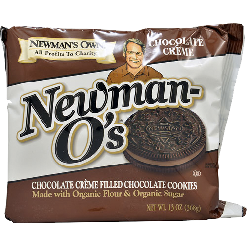 Newman's Own Organics Chocolate Creme Filled Chocolate O's: 13 oz boxes