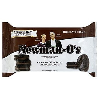 Newman's Own Organics Chocolate Creme Filled Chocolate O's: 8 oz boxes