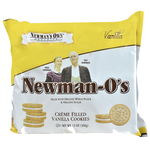 Newman's Own Organics Vanilla Cream O's: 13 oz Boxes