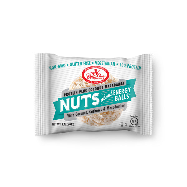 Betty Lou's Nut Butter Balls Protein Plus - Coconut Macadamia
