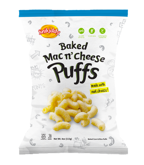 Snikiddy Snacks All Natural Mac n Cheese Puffs - 72 count