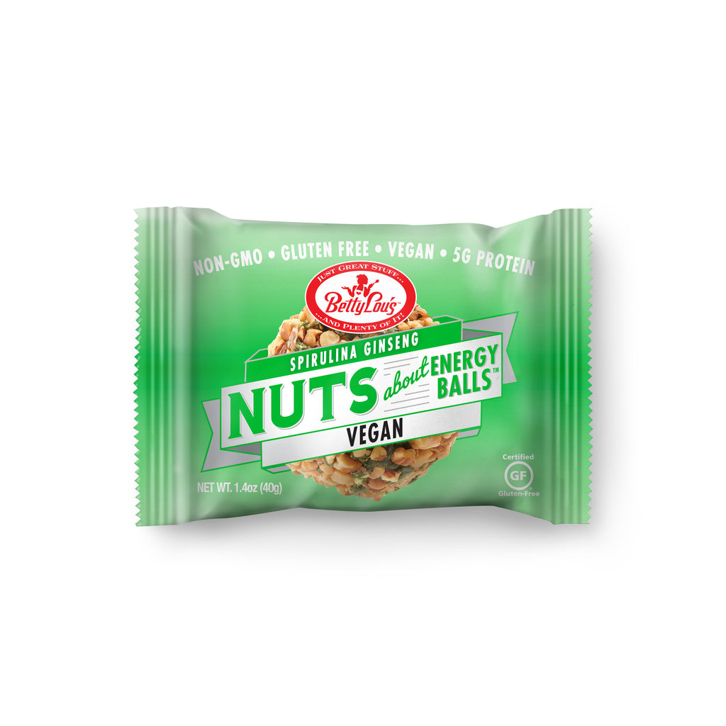 Betty Lou's Nut Butter Balls - Spirulina Ginseng (12 pack)