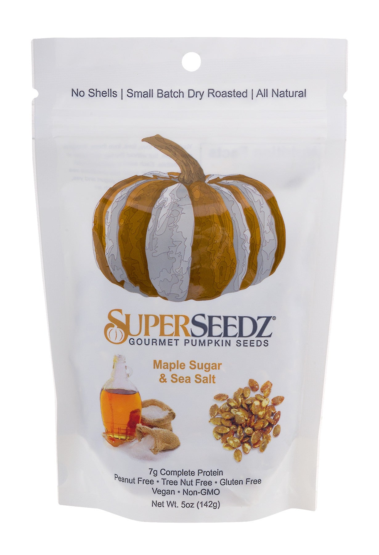 SuperSeedz Gourmet Pumpkin Seeds- Maple Sugar & Sea Salt