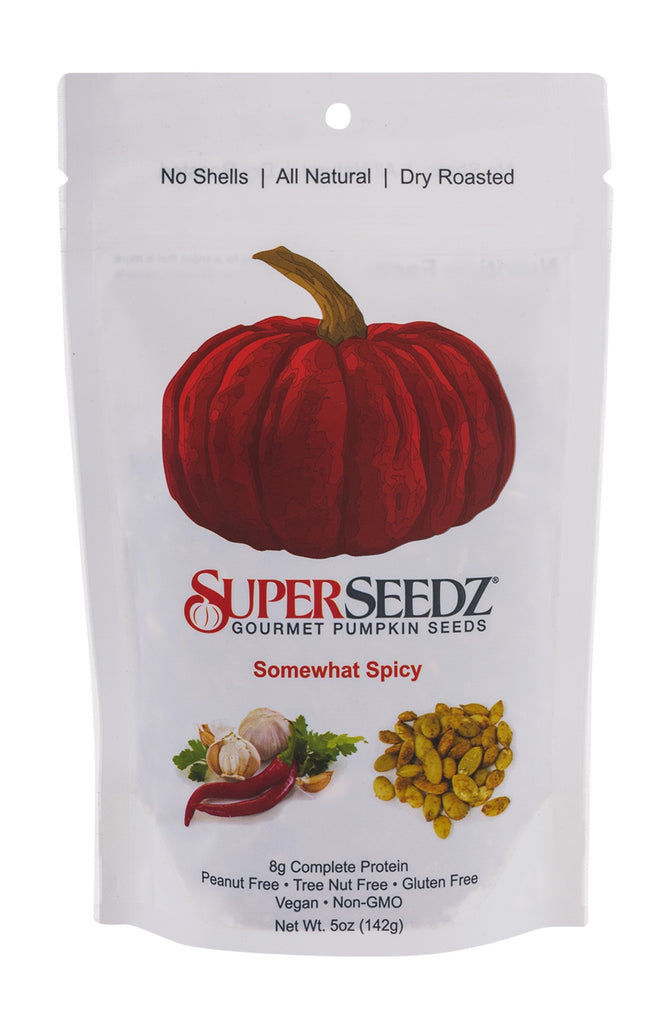 SuperSeedz Gourmet Pumpkin Seeds - Somewhat Spicy