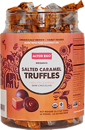 Alter Eco Chocolate Salted Caramel Truffles - 60 count