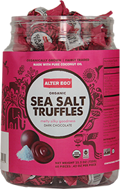 Alter Eco Chocolate Sea Salt Truffles - 60 count