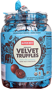 Alter Eco Chocolate Velvet Truffles - 60 count