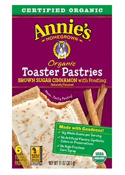 Annie's Homegrown Organic Brown Sugar Cinnamon Toaster Pastries