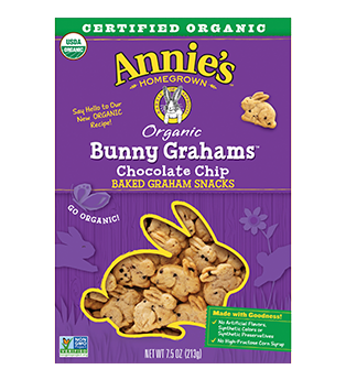 Annie's Homegrown Organic Chocolate Chip Bunny Grahams