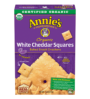 Annie's Homegrown Organic White Cheddar Squares