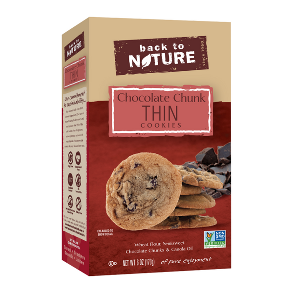 Back To Nature Chocolate Chunk Thin Cookies