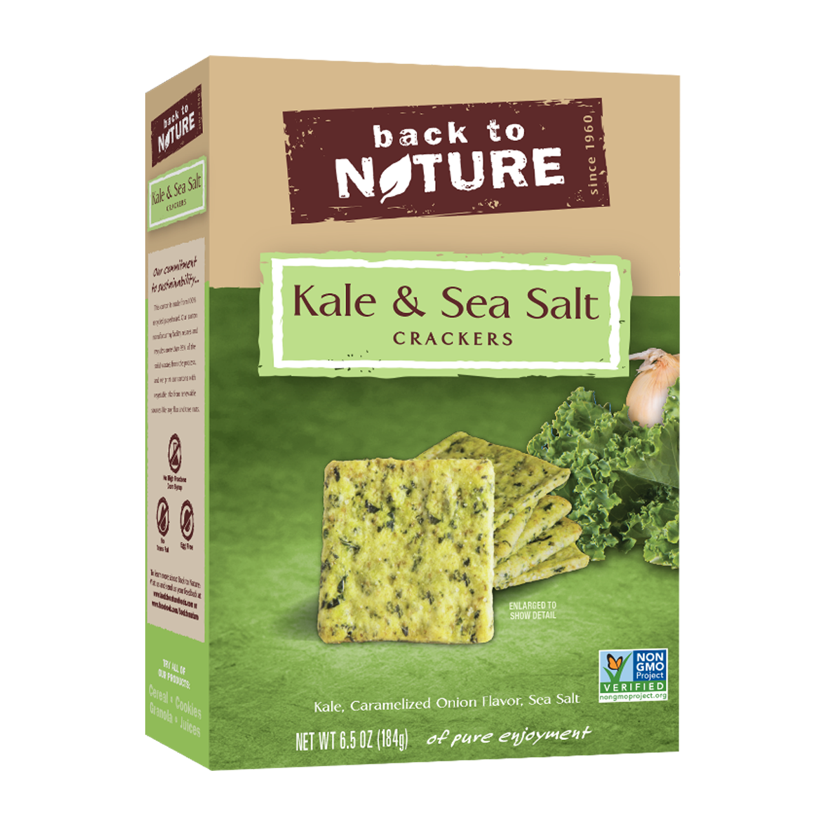 Back To Nature Kale & Sea Salt Crackers