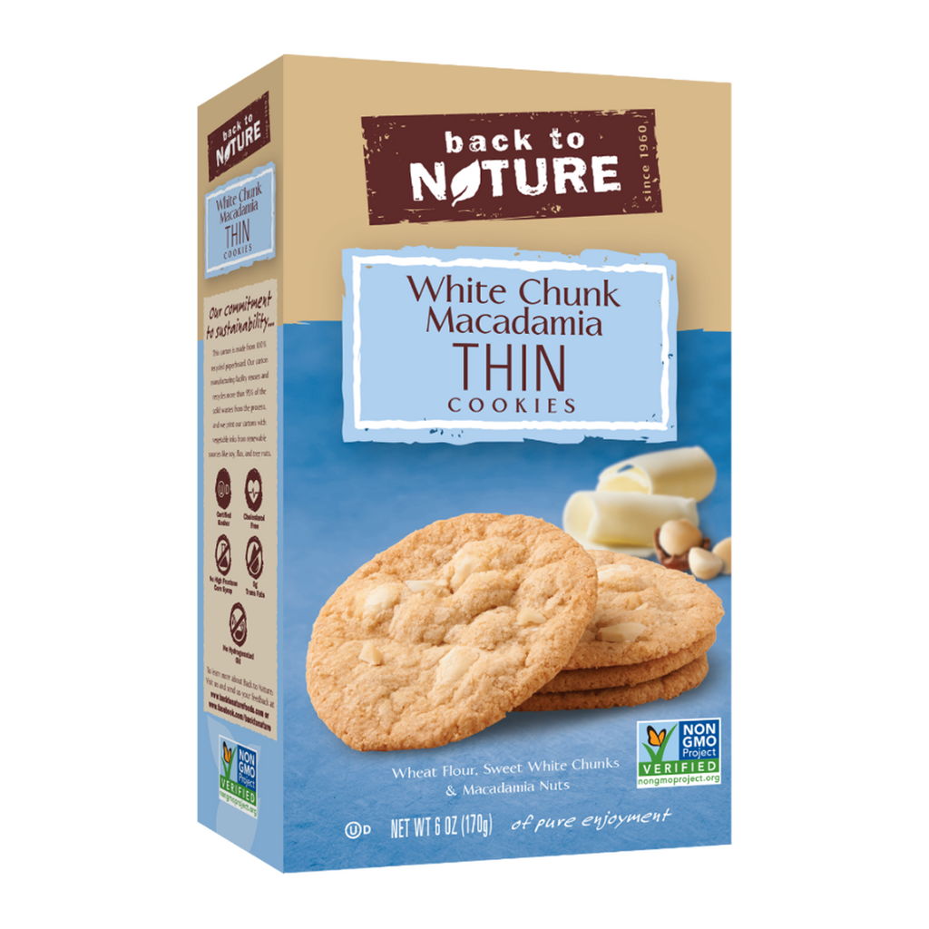 Back To Nature White Chunk Macadamia Thin Cookies