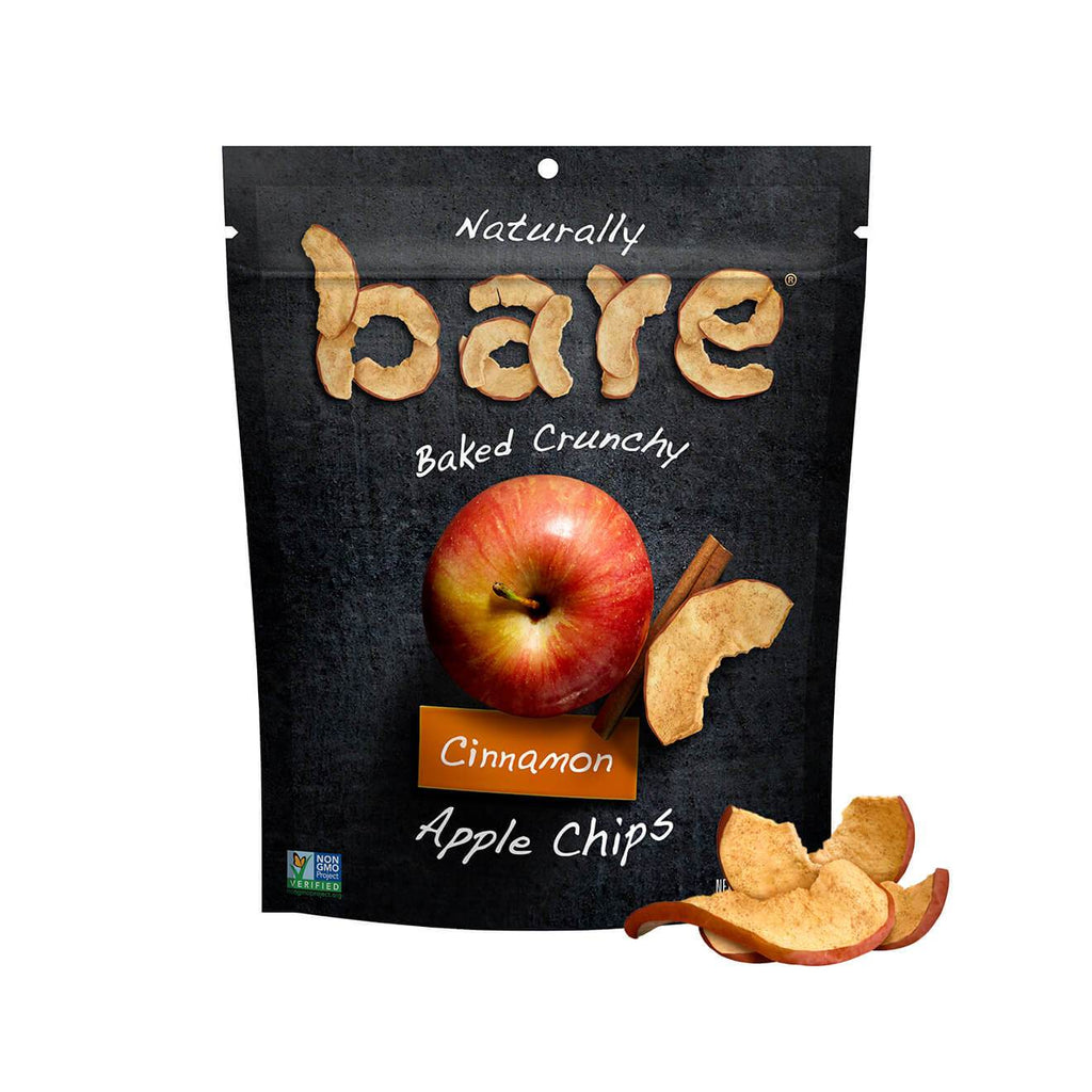Bare Fruit All Natural Crunchy Apple Chips Simply Cinnamon - 6 count