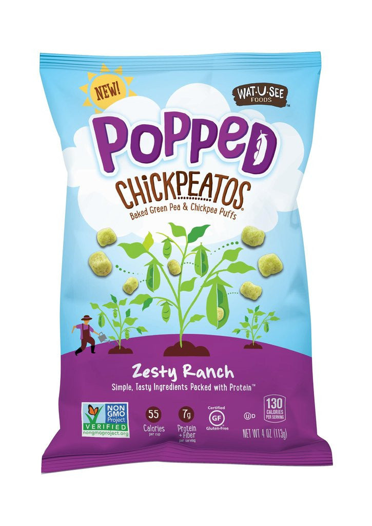 Wat U See Popped Chickpeatos - Zesty Ranch