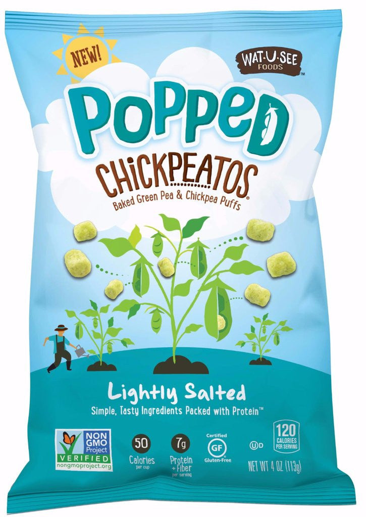 Wat U See Popped Chickpeatos - Lightly Salted