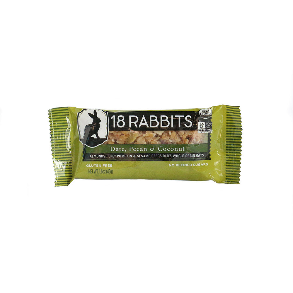 18 Rabbits Organic Granola Bar - Date Pecan and Coconut