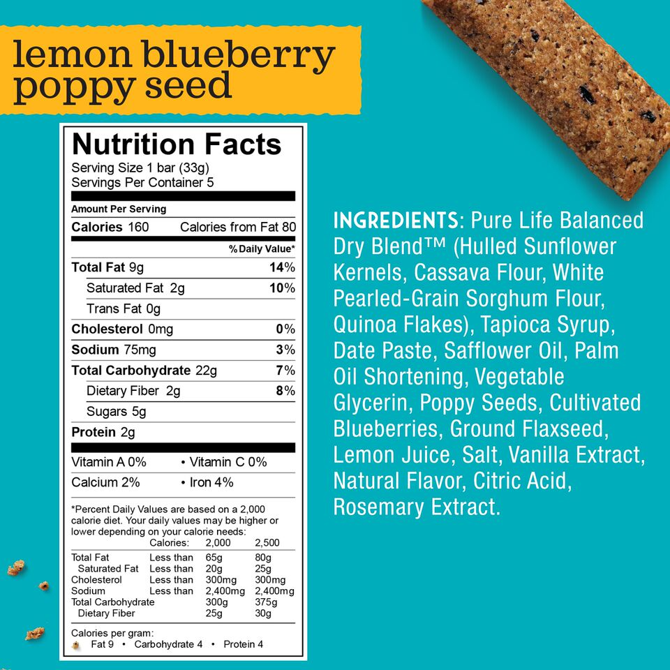 Enjoy Life Lemon Blueberry Poppyseed Snack Bar