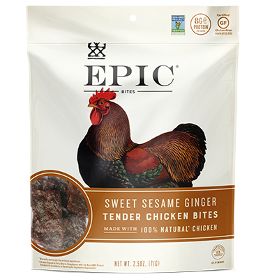 Epic Jerky Bites - Sweet Sesame Ginger Chicken