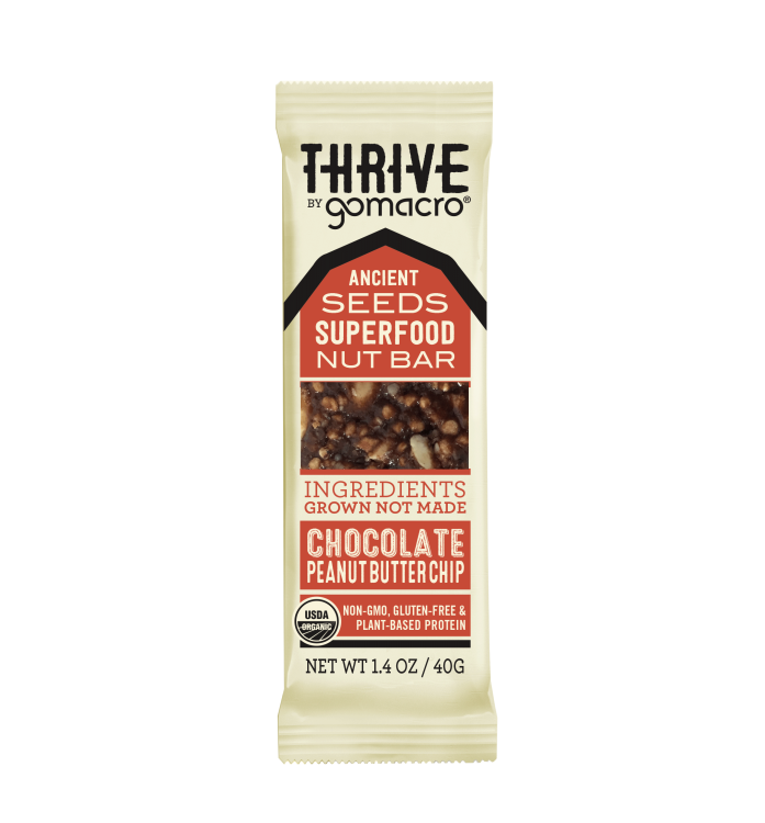 GOMACRO - Chocolate Peanut Butter Chip THRIVE Bar