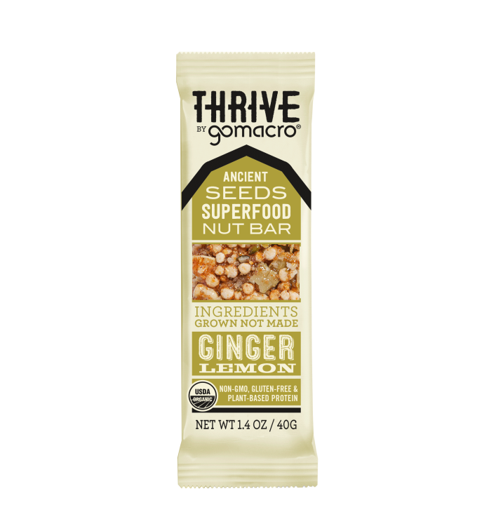 GOMACRO - Ginger Lemon THRIVE Bar