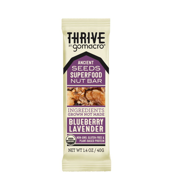 GOMACRO - Blueberry Lavender THRIVE Bar