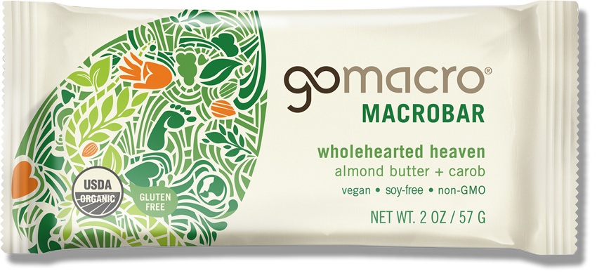 GOMACRO - Wholehearted Heaven (Almond Butter & Carob Chip)