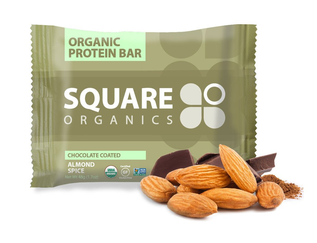 Square Organics Chocolate Coated Almond Spice