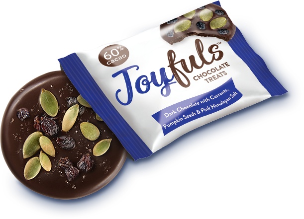 Joyfuls Dark Chocolate with Currants, Pumpkin Seeds & Sea Salt