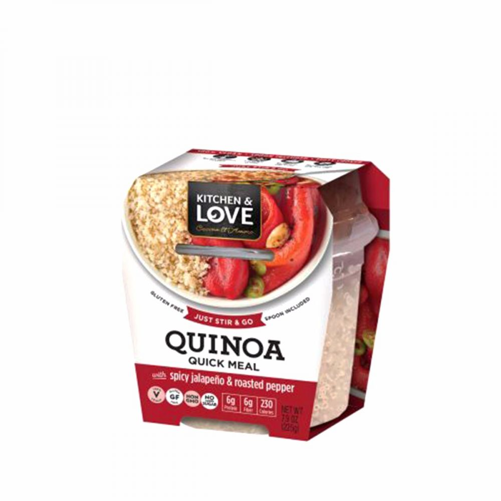 Kitchen & Love Quick Quinoa Meals - Spicy Jalapeno & Roasted Pepper