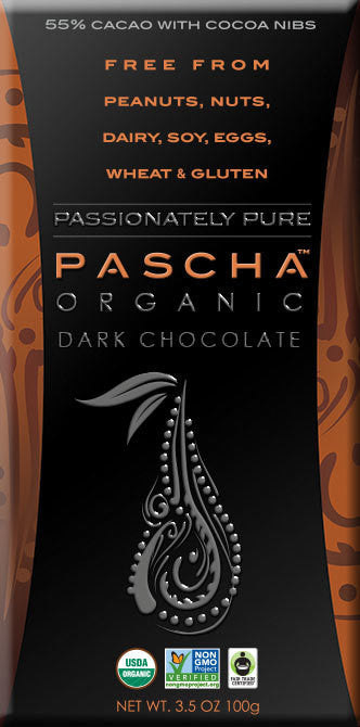 PASCHA Chocolate - 55% Cacao with Cacao Nibs