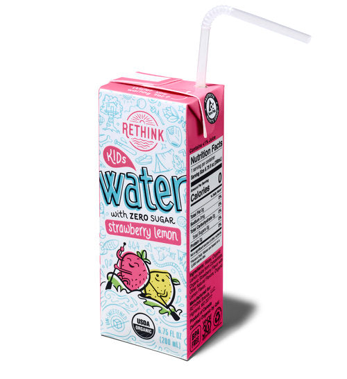 RETHINK Strawberry Lemon Kids Water