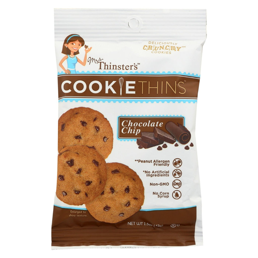 Mrs. Thinsters Chocolate Chip Cookie Thins - Snack Pack