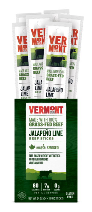 Vermont Smoke & Cure Jalapeno Lime Grass-Fed Beef Sticks