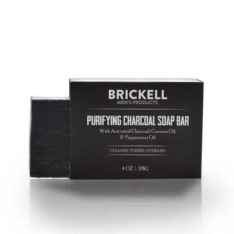 Brickell Purifying Charcoal Soap Bar (118g)