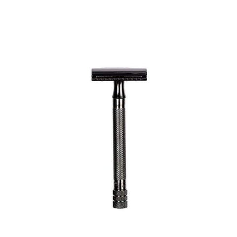 Merkur 23 Long Handle Double Edge Safety Razor (Black PVD Coated)