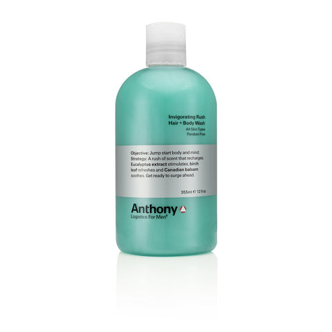 Anthony Logistics Invigorating Rush Hair & Body Wash (size options)
