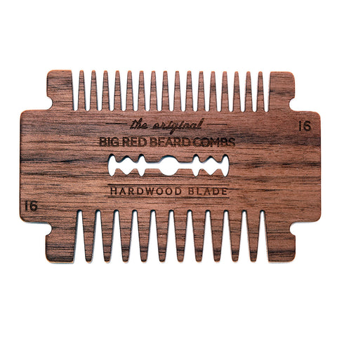 Big Red No.16 Hardwood Blade Beard Comb - Options