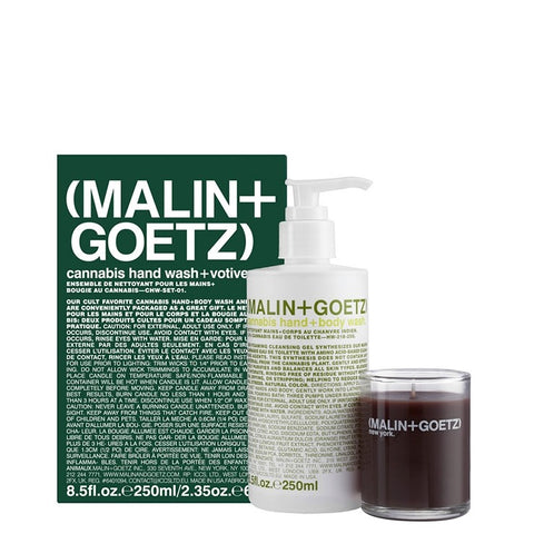 (Malin+Goetz) Cannabis Hand Wash + Votive Set