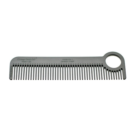 Chicago Comb Co. Model No. 1 Carbon Fiber Comb