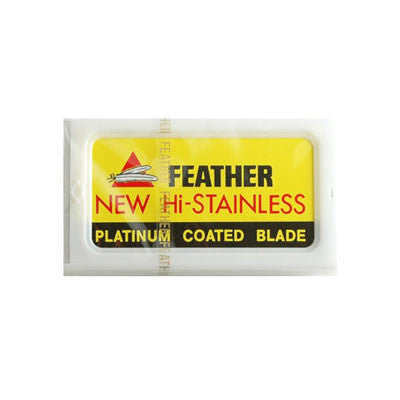 Feather Hi-Stainless Platinum Coated Double Edge Razor Blades (10ct)