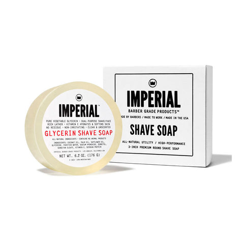 Imperial Glycerin Shave Soap Puck (176g)