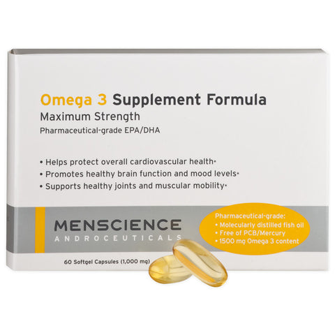 Menscience Omega 3 Supplement Formula (60 Softgel Capsules)