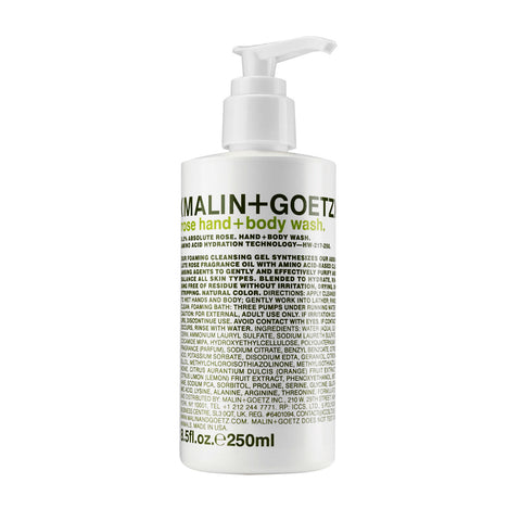 (Malin+Goetz) Rose Hand + Body Wash (250ml)