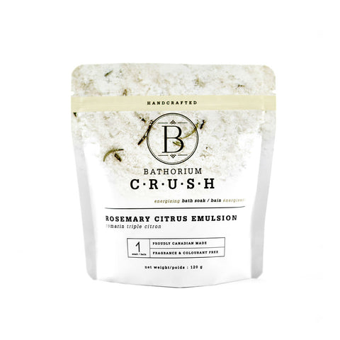 Bathorium Crush Energizing Bath Soak - Rosemary Citrus Emulsion (Size Options)