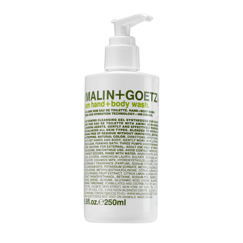 (Malin+Goetz) Rum Hand + Body Wash (250ml)