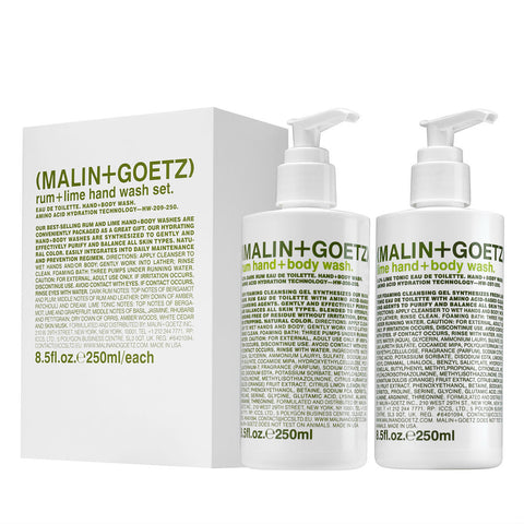 (Malin+Goetz) Rum & Lime Hand Wash Gift Set (2 x 250ml)