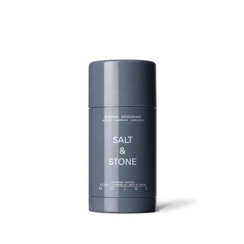 Salt & Stone Natural Deodorant - Vetiver + Lemongrass + Sandalwood (75g)
