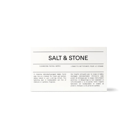 Salt & Stone Cleansing Facial Wipes (20 Pack)