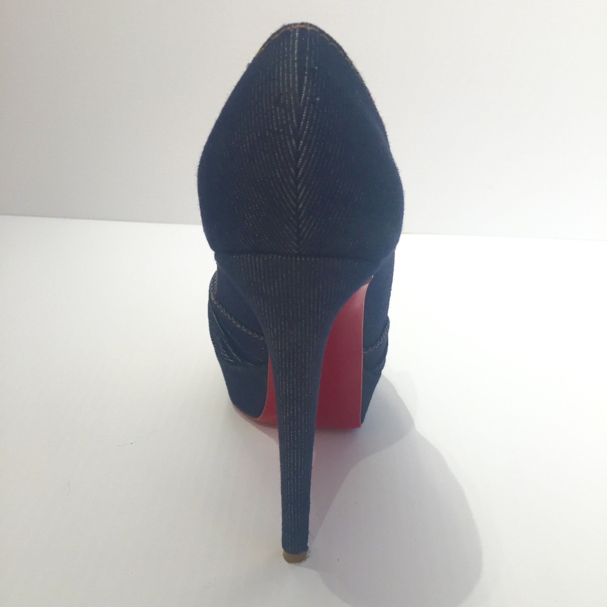 f5db07638f6a CHRISTIAN LOUBOUTIN GREISSIMO DENIM NAVY PUMPS